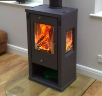 7-8kw Tulin Contemporary, Modern Woodburning, Multi-Fuel, Stove Stoves