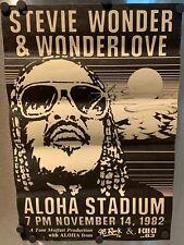 Stevie Wonder Wonderlove Concert Poster Aloha Stadium Honolulu Hawaii 1982