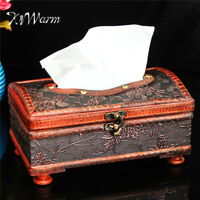 Antique Retro Crafted Wooden Handmade Tissue Box Napkin Paper Holder Home Decor