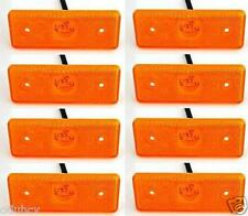 8x 12V LED Amber Orange Side Marker Board Lights Trailer Truck Van Bus Camper