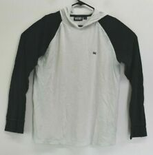 Vans Young Mens Medium Long Sleeve Pullover Hooded Shirt Casual White & Gray