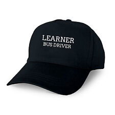LEARNER BUS DRIVER PERSONALISED BASEBALL CAP GIFT BUS DRIVER STUDENT NEW JOB