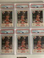 Michael Jordan 1990 Fleer #26 PSA 8 NM-MT Lot of 6