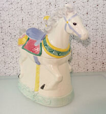 1991 Hearth and Home Designs Carousel Horse Cookie Jar MODEL 5102-01