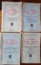 Le Monde invisible et mystérieux des ondes de Chretien Henri 4 vol-1945