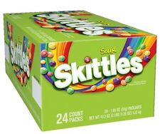 SKITTLES SOUR CANDY 24 Packs 1.8 oz Each Fresh