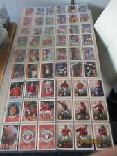Futera Fans Selection Manchester United 1997 Complete Set 90 cards + 18 Embossed