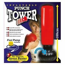 Inflatable Stress Boxing Punch Tower Free Standing Box Fun Workout Bag Pump