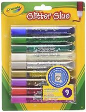 Crayola 9 Colour Glitter Glue Blue Gold Silver Rainbow Red White Purple Green +