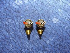 2 GM Chevrolet Chevy Corvette Collector Edition Flags Lapel/Hat Pin Tie Tacks