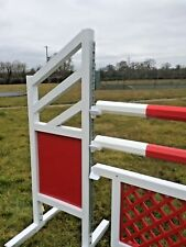 Hardwood Octagonal Show Jump Poles 3m Painted two colours