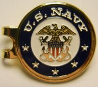 Premium US Navy Hat Clip with removable Magnetic Golf Ball Marker