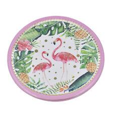 Hochzeit Party Pappteller Flamingo Muster Einmalbesteck Einwegteller 10x Deko