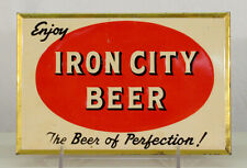 IRON CITY TOC TIN-OVER-CARDBOARD BEER SIGN PITTSBURGH, PENNSYLVANIA PENN. PA OLD