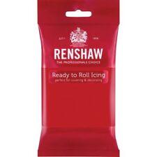 Renshaw Ready To Roll Icing Fondant Cake Regalice Sugarpaste 250g POPPY RED