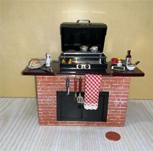 MINIATURE DOLLHOUSE 1:12 SCALE REUTTER DECORATED BARBECUE GRILL - 2.712/2