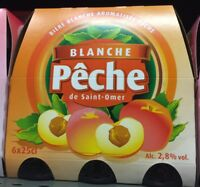 Lot Revendeur Destockage Solderie/Palette De 18 Bières Blanche Saveur Pêche