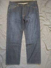 MEN'S 40X32 SALTAIRE RELAXED STRAIGHT LEG DARK WASH RUSTIC BLUE JEANS