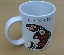 Haida Chinook Salmon Canada by Unknown Artist Coffee Cup Mug Very Good
