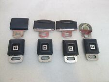 LOT OF 4 GM Logo Metal Seat Belt Buckle Push Button With Latch  **BLUE**