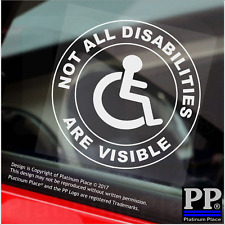 1x Not All Disabilities Are Visible,Round,Window Sticker,Sign,Car,Badge,Disabled