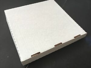 100no White Cardboard Post Packing Boxes, 250 x 250 x 30mm