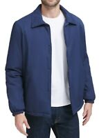 Cole Haan Mens Coaches Jacket Blue Size Medium M Sherpa Lined Button-Up $275 297