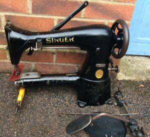 Antique Singer 17-16 Cylinder Arm Industrial Sewing Machine