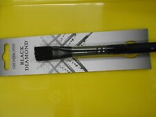 NEW Grumbacher Black Diamond Bristle Artist Brush Round #8 Bright