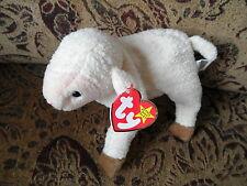 NWT 1998 TY BEANIE BABY EWEY Sheep Lamb Bean Bag Stuffed Animal Toy Soft CUTE 3+
