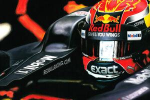 ORIGINAL Painting on Canvas Max Verstappen Aston Martin Red Bull Helmet F1
