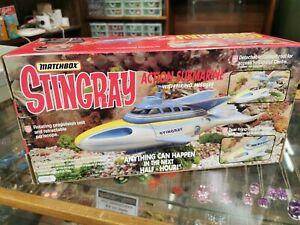 Vintage  Boxed original Matchbox Stingray Action Submarine missing missiles