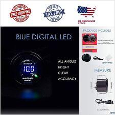52mm Auto Car Air Fuel Ratio Gauge+O2 Oxygen Sensor Universal Blue Digital Light