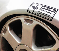 Warning Pinch Point STICKER AUTOCOLLANT couvrent Low Rider Low Static Airride