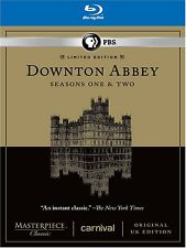Downton Abbey: Seasons One 1 and & Two 2 (Blu-ray Disc, 2012) *Brand New*