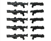 LEGO Star Wars Guns DC-15 + DC-15S Blaster Rifle Clone Trooper Weapon 10 Pack