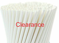 """Disposable Straws White Paper Drinking Straw Party Supplier 6mm  5.75"""" 250pcs"""