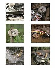 Fly Fishing Design assorted  Picture Drinks Coasters Set 6 Gift Boxed