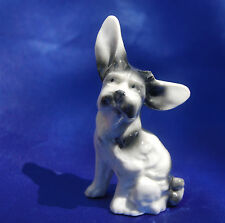 Antique Porcelain Germany Scottie Scottish terrier Cairn Norwich dog Big Ears