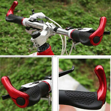 New MTB Bike Bicycle Comfortable Lock-On Handlebar Rubber Grips + Bar End Red