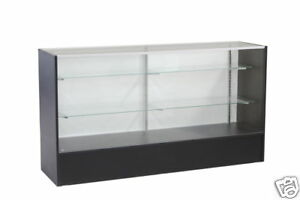 Glass Wood Black Showcase Display Case Store Fixture Fully Assembled #SC-SC6BK