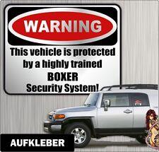 Auto Aufkleber Warning BOXER  Hunde by Siviwonder Einbruch Warnaufkleber