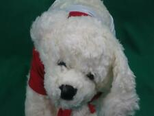 BIG WHITE BUILD A BEAR PUPPY DOG SPARKLY RED SHIRT SPANDEX SHORTS PLUSH STUFFED