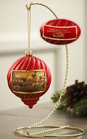 Night on the Town Red Christmas Ornament Terry Redlin  Wild Wings