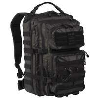 Mil-Tec Large Tactical Black Artificial Faux Leather Rucksack Pack Backpack 36L