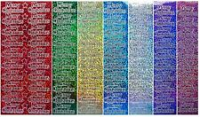 MERRY CHRISTMAS Peel off Stickers Stars Holographic Gold Silver Red Green Aqua