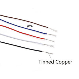 Colored UL1571 PVC Electronic Wire Tinned Copper Cable 26/28/30/32AWG 30V 80°C