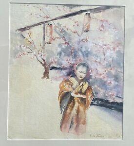 Elihu Vedder (1836-1923) Japanese Watercolor Painting Dated 1882
