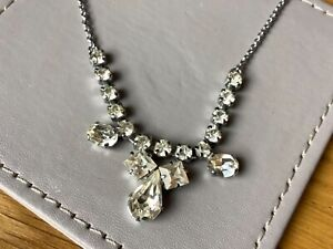 Vintage Art Deco Style Diamanté Stones Necklace.