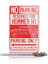 Hummer H1 Pick Up 4X4 Reserved Parking Only 12x18 Aluminum Sign